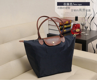 Pretty Gift Wholesale Cheap Classic Foldable Women Nylon Tote Shopping Bag Red
