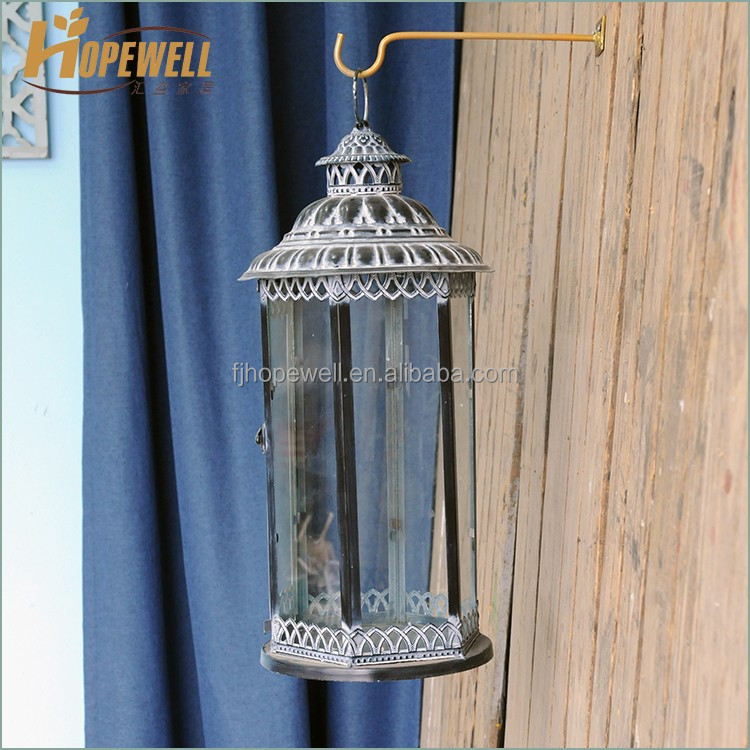 Cheap vintage brown metal mini lantern