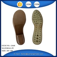 Ladies new fashion pu wedge shoe soles for footwear