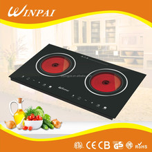 2 burners infrared cooker 220V electric coil hot plate with UL CE RoHS
