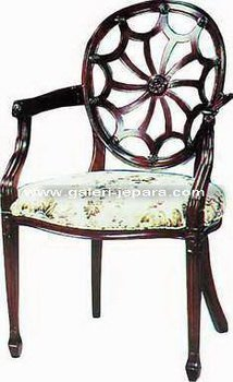 Dining Arm Chair - Wooden Indoor Furniture - Antique Furniture Manufacturer Jepara