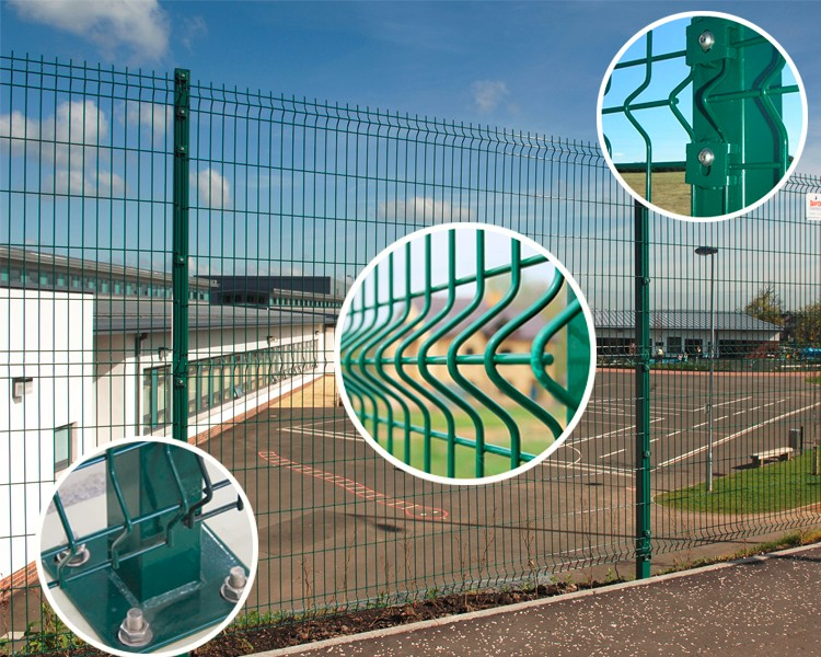 pvc coated parking fence