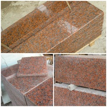 Polished G562 Maple Leaf maple Red purple Rosa Pink dark red Granite stone tiles slabs