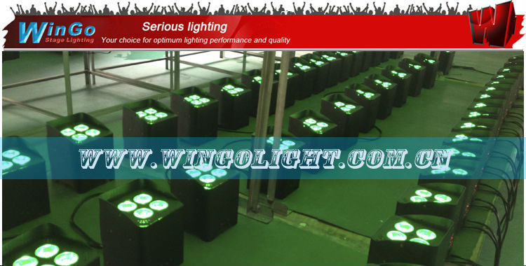 IRC control wireless DMX rechargeable battery power led par / RGBAW / RGBWA+UV battery power wireless dmx led par