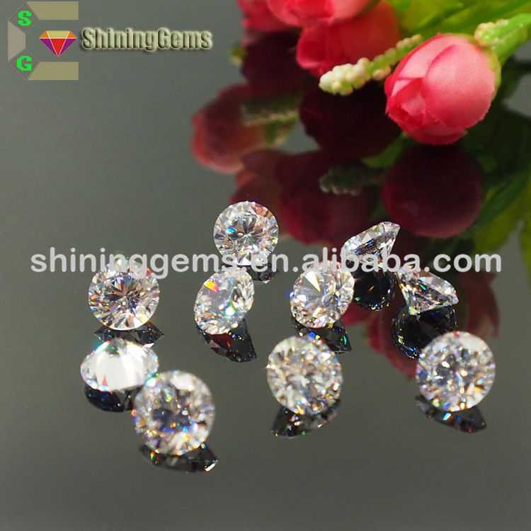 Hot Sale Factory Direct Price high sparkle good clarity white zircon gems