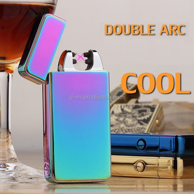 Top Quality X Dual Arc Lighter Metal Electronic Double Arc Lighter Usb Charged Lighter