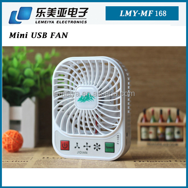 pocket cooler mini fan 4 speeds high summer cooler fan USB with built in battery summer mini table fan