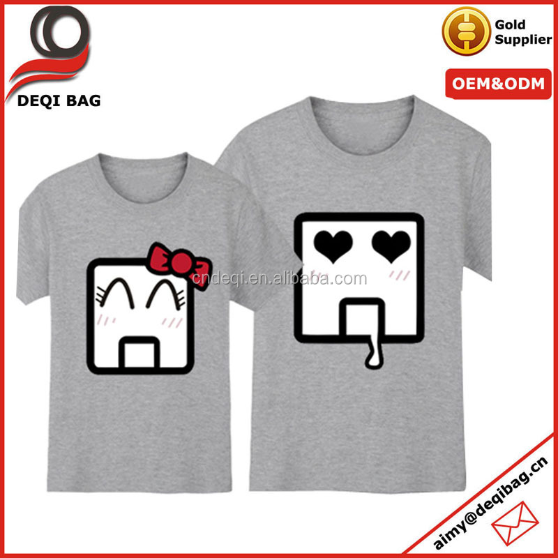 Cute Emoji Couple Matching T-Shirt Mr Mrs Cartoons Summer Clothes Hot Lovers Tees Tops