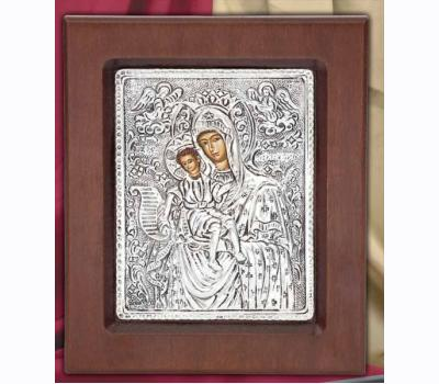 Panagia Eleousa Silver Greek Orthodox Icon