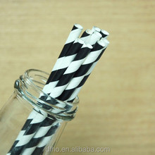 trending hot products drinking black striped Paper Straws for birthday