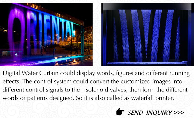 Shopping Center Circular Celling Hang Type Digital Water Curtain