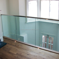 10mm 12mm 15mm Tempered Safety Glass For railing,baluster,handrail glass