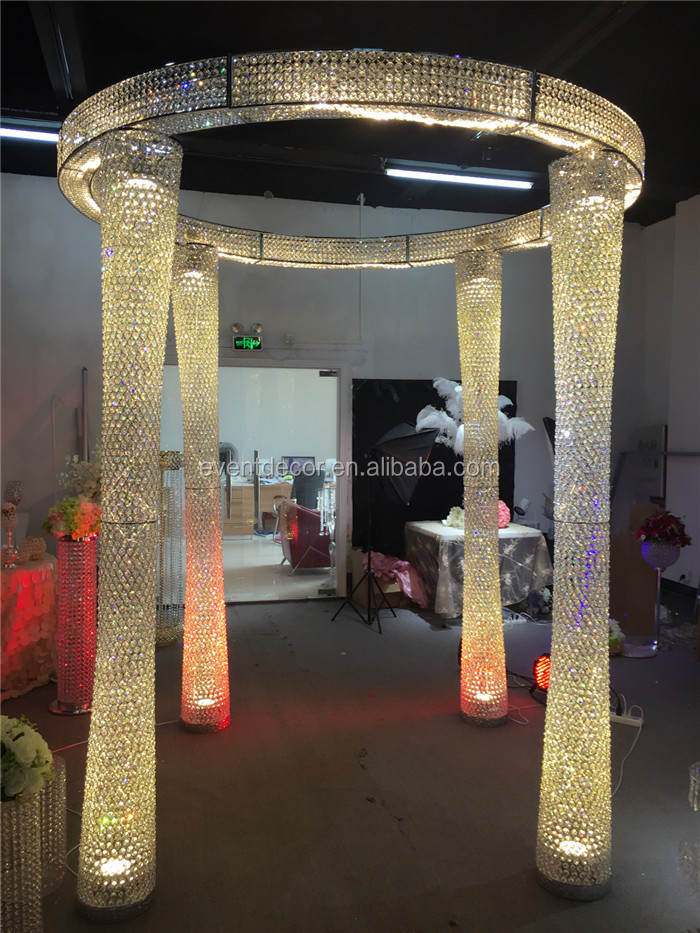 Round wedding larger crystal pillar / tall wedding decoration for wedding used