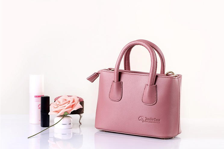 Italy Most Famous Monochromatic Simple Pink Clear Handbag Luxury Pu Tote YiWu Direct Sale Cute Girl Women Fashion Shoulder Bag
