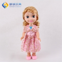 Direct selling 14inch interactive talking mini toys girl baby doll for kids