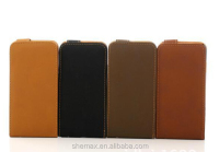 PU Leanter Mobile Phone Flip Cover Classic Vertical Flip Folio Case for Iphone 4 4G 4S Wholesale