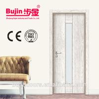Cheap price latest design 3 moulding embossed panel solid wood door