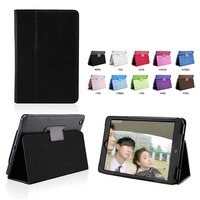 NEW Flip Litchi Grain Leather Stand Cover Case For Apple iPad 2 3 4