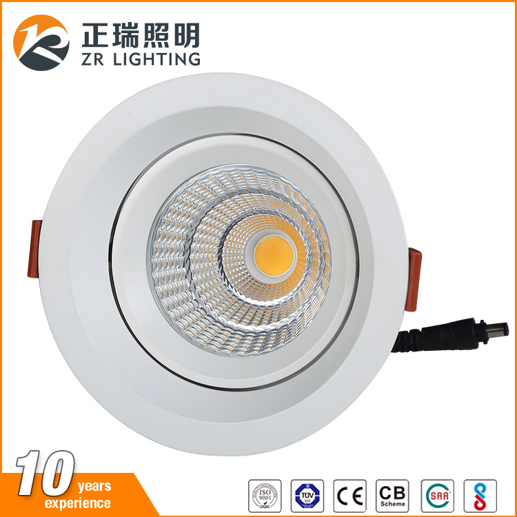 Indain Standard BIS Approved high lumen dimmable round ceiling cob 20w led spotlight