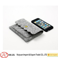 Newest fashional Felt Mobile Phone Bags &Case &Cell Phone Case made in china