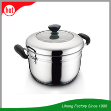 Stainless Steel Broad-Edge High Quality potjie pot buffet soup pot