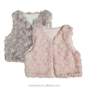 Fall Winter Unisex Baby toddler Soft Faux Fur Vest Warm Sleeveless Jacket