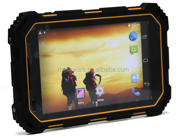 7 inch quad core rugged tablet pc Android 5.1 NFC 4g lte GPS WiFi bluetooth
