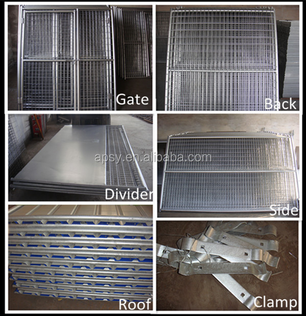 hot dip galvanized dog run with trapezoidal sheets roof