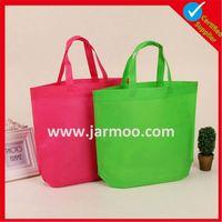 Custom print non woven bag with one color print MOQ 100Pcs shopping fabric bag wholesale