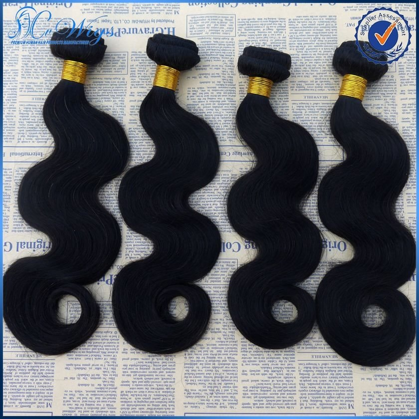 Unprocessed natural color body wave 5A grade cheap 100% brazilian virgin hair