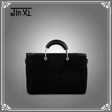 Wholesale cheap trendy girls tote handbag ladies fashion flannel handbag