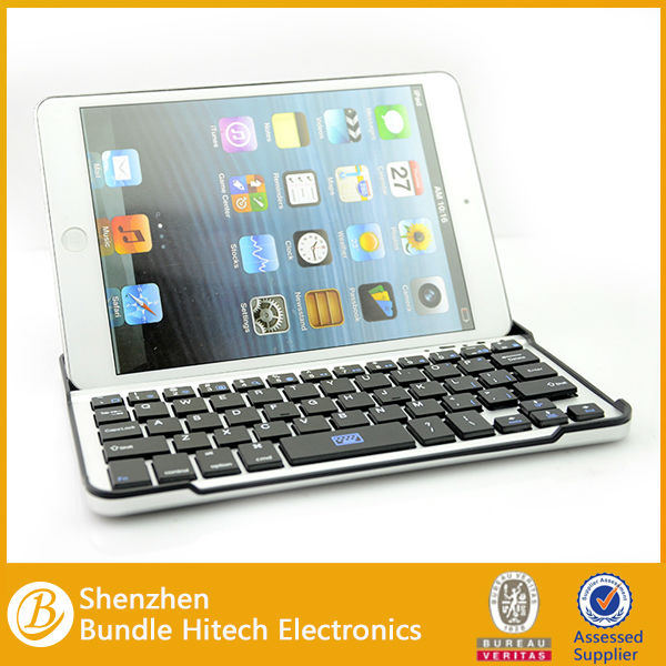 alibaba supplier Super thin Portable protective case Aluminum Bluetooth Keyboard for ipad mini 7.9 inch