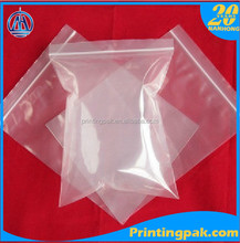 Custom logo printed transparent clear resealable plastic ziplock bag for food