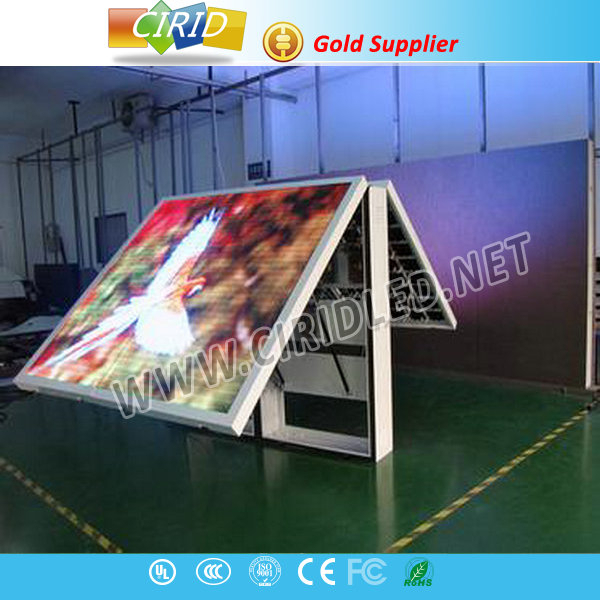 2015 competitive price double sided outdoor programmable led sign