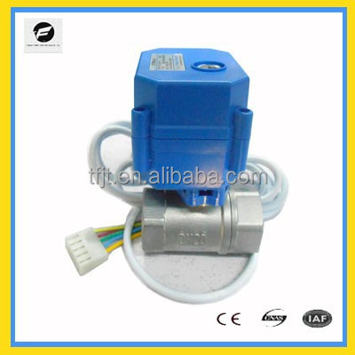 Mini Electric Control Ball Valve Manufacturers with electric quickly shut off actuator for Fan coil and,hot water cycle system