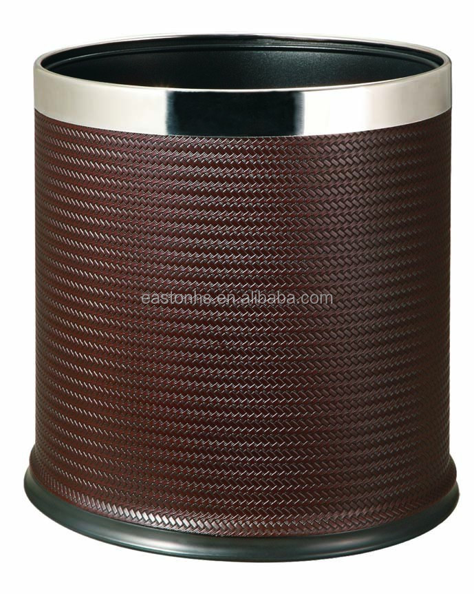 10L Hotel Coffee Leatherette Waste Bin