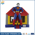 Huale professional superman inflatable bounce house for kids fun