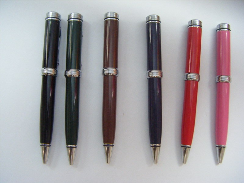 China Best Selling Different Lacquered Colors Ballpoint Pen With Company Logo Custom