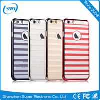 2016 Wholedale Mobile Phone Accessory Stripes Design Plastic PC Back Case Cover for iPhone 6 6s Plus