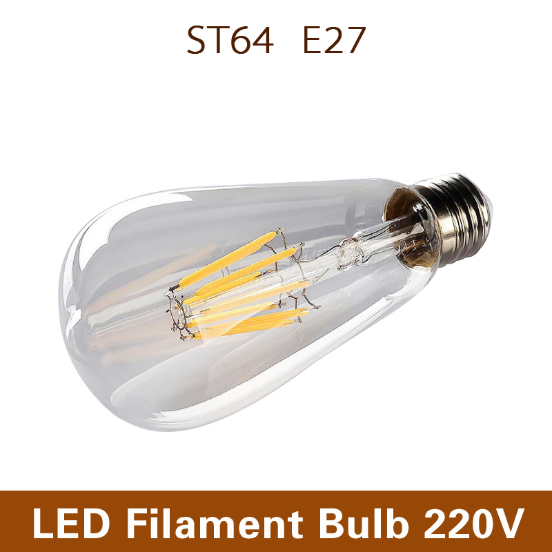 B22 ST64 Led Bulb AC110V 220V 360 Degrees 4W 8W warm white led filament led bulb spot lamp