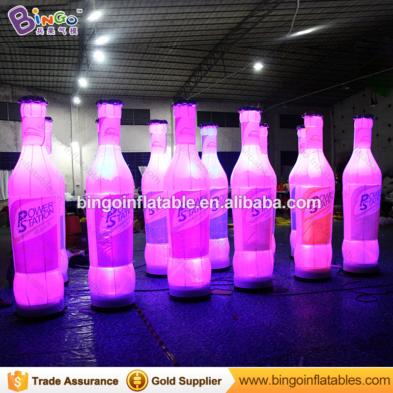 Oktoberfest decoration giant inflatable beer bottle with LED lighting