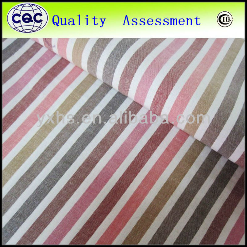 Stripe yarn dyed spandex fabric for shirt
