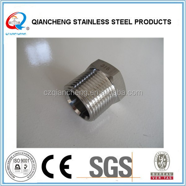 5406-P Series 316 Stainless Steel Male NPT Hex Pipe Plug