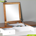 2 drawers,Arc-shaped floor dressing table with flip up mirror ,China manufacturer