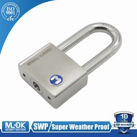 MOK@12/50WF High quality small stainless steel padlock,Low price secure pad lock