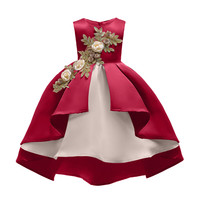 China Supplier Wholesale Price Fashion Embroidery Baby Girl Fancy Dress Flower Girls Party Dresses