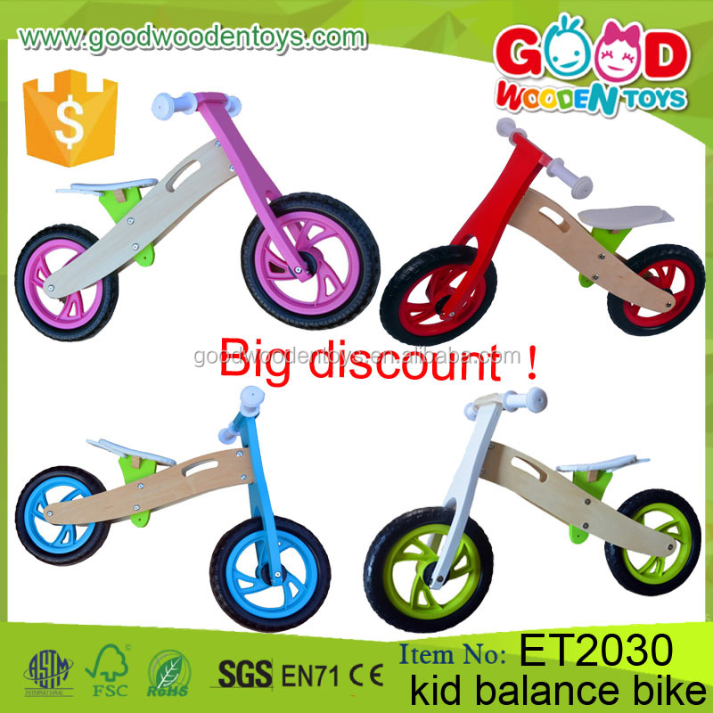 Kids Wooden Bike Toy Practical Life Learning Set Educational Wooden Balance Bike for Children