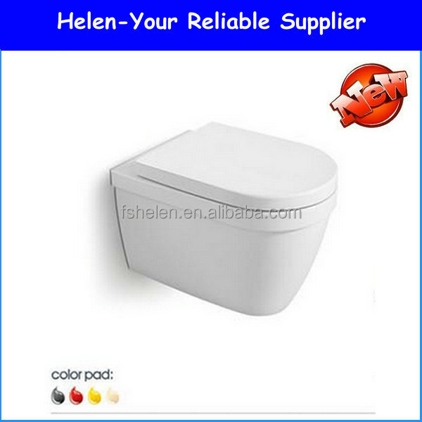 Stock Water Saving Wall Hung Toilet Concealed Cistem WC Bowl Bathroom Closet B-2382