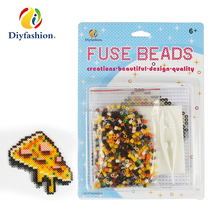 Diyfashion 5mm hama perler fuse beads the Slice of pizza set with puzzle iron paper and twezzer hama beads toys for kids 18022