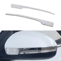 Free Shipping 1 Pair Decorative Rear View Mirror Chrome Moulding Trim Car Mirror Edging Strips For Hyundai Tucson 3th 2015 2016